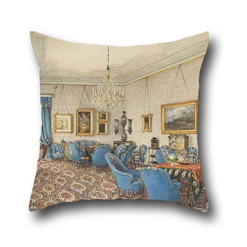 18 X 18 Inches / 45 By 45 Cm Oil Painting Franz Alt - A Salon In Vienna Pillowcase ,double Sides Ornament And Gift To Kids Boys,bedding,adults,shop,boys,deck Chair (Vienna Chair Kids)