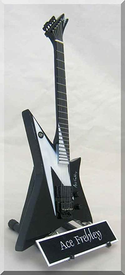 Amazon.com: ACE FREHLEY Miniature Guitar Washburn KISS w/Name Tag: Musical Instruments