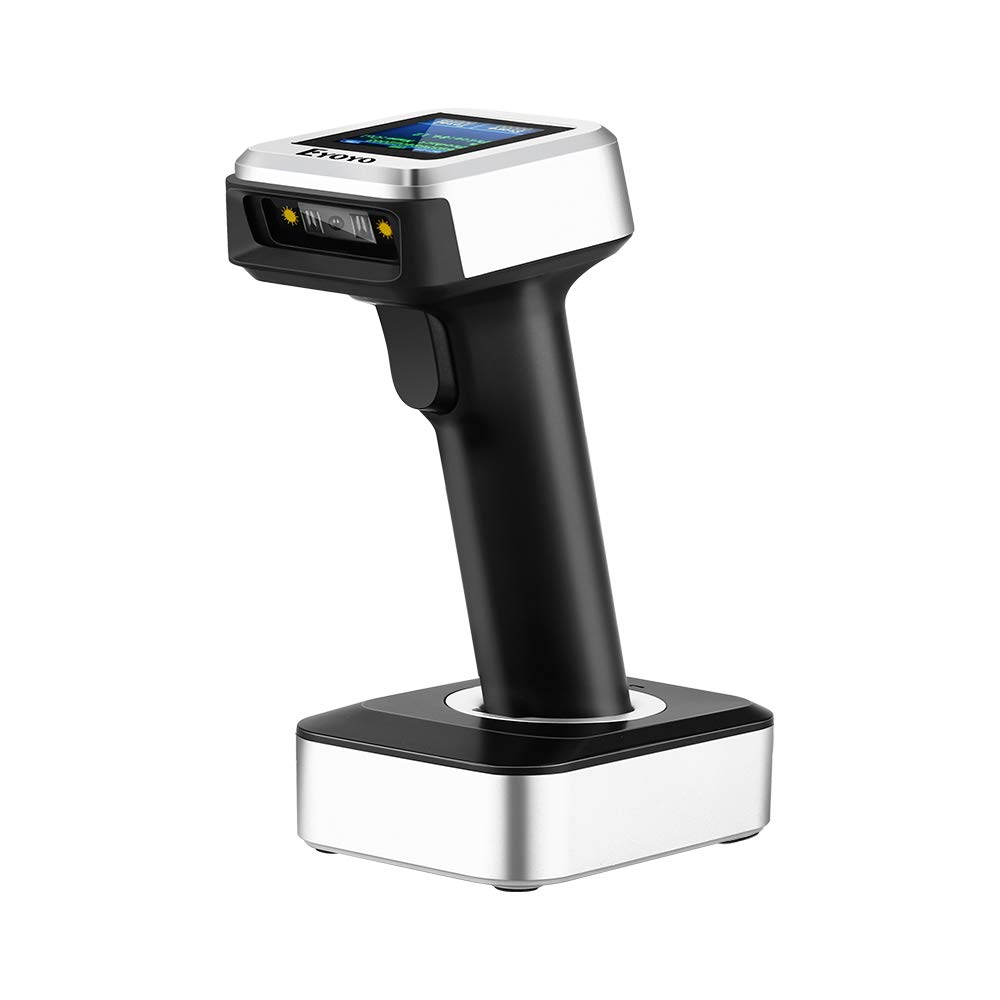 Android Eyoyo Bluetooth Barcode Scanner USB Wired//Bluetooth// 2.4G Wireless Connection 1D Wireless Barcode Reader w//TFT Color LCD Screen /& Time Prefix Suffix CCD Scanning for iPad Tablet PC iPhone