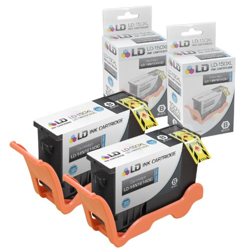 LD Compatible Ink Cartridge Replacement for Lexmark 150XL 14N1614 High Yield (Black, 2-Pack) (Compatible Lexmark Ink)