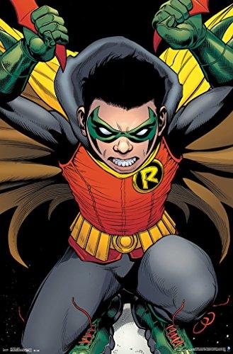 Robin Damian Wayne Comic Book Art Poster 22x34 - Damian Wayne Costume