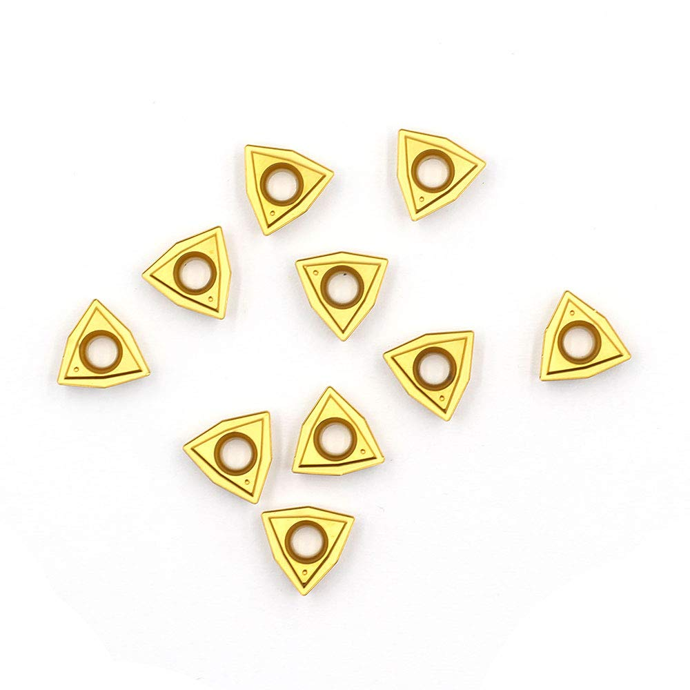 OSCARBIDE Carbide Turning Inserts WCMT050304 WCMT2.52 ,WCMT Inserts CNC Lathe Insert for Indexable Lathe Turning Tool Holder Insert Replacement,10 pcs//Pack
