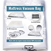 Mattress Vacuum Bag for Moving and Shipping/Returns (Works with Any Vacuum Cleaner) Holds Compression for More Than 30…