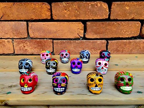 Assortment of Small Ceramic Sugar skulls, Two Count