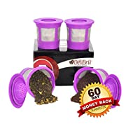 Amazon Lightning Deal 70% claimed: Delibru 4Pack Reusable K-Cups for Keurig 2.0 & 1.0 Machines. Reusable kcup, k cup reusable filter, keurig coffee filters, refillable universal kcup. Compatible With Keurig Brewers.