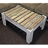 Sofa de palets color Blanco + Mesa de Pales: Amazon.es: Hogar