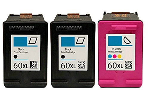 HouseOfToners Remanufactured Ink Cartridge Replacement for HP 60XL (2 Black & 1 Color, ()