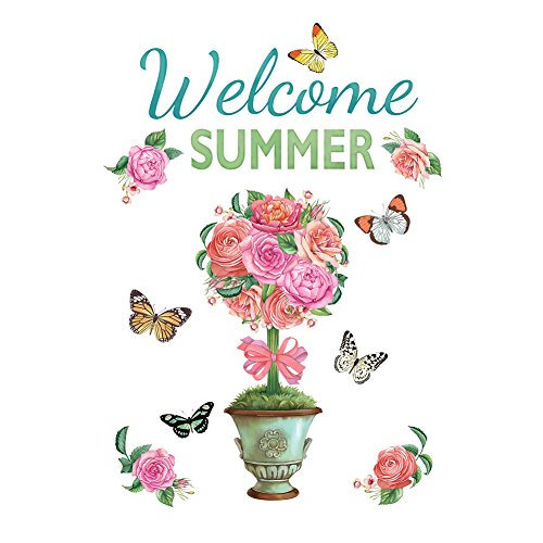 Collections Etc Welcome Summer Floral Topiary Outdoor Garage Door Magnets Decoration