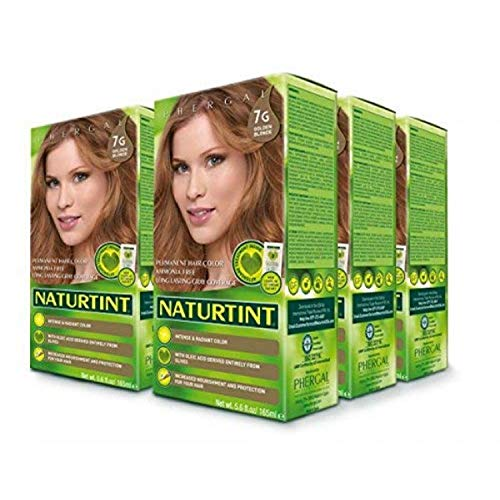 Naturtint Permanent Hair Color 7G Golden Blonde (Pack of 6), Ammonia Free, Vegan, Cruelty Free, up to 100% Gray Coverage, Long Lasting Results
