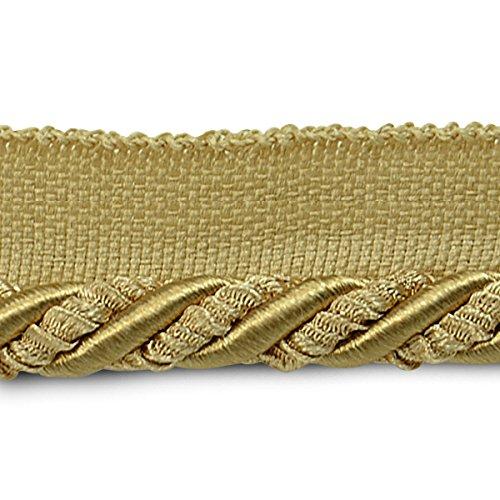 Expo International 3/8-Inch Helena Decorative Lip Cord Trim Embellishment, 20-Yard, Gold by Expo International