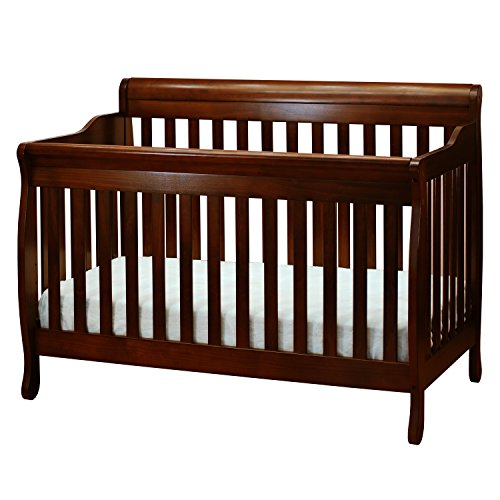 Athena Alice 3 in 1 Crib with Toddler Rail, Espresso