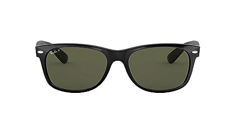 Ray-Ban Negro polarizado verde clásico del G-15 de 55 mm cuadrados Wayfarer gafas de sol: Amazon.es: Ropa y accesorios