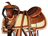 15 16 17 Floral Tooled Leather Horse Trail Pleasure Ranch Roper Roping Western Saddle