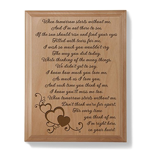 Kate Posh - A Letter From Heaven Wood Plaque (Letter To Son From Mother In Heaven)