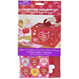 Amscan Adorable Valentine's Day Party Decorate Mailbox, Multicolor, 5 3/4 x 8 3/4 x 5 3/4-Inch