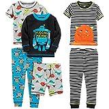 Simple Joys by Carter's Boys' Little Kid 6-Piece Snug Fit Cotton Pajama Set, Monster/Dino, 7
