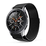 Lovewe Samsung Watch Band,Luxury Milanese Magnetic Loop,Stainless Steel Metal Bracelet,Wristband Strap For Samsung Galaxy Watch(42mm/46mm) (Black, 42mm)