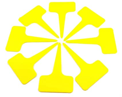 50 X YELLOW T LABELS
