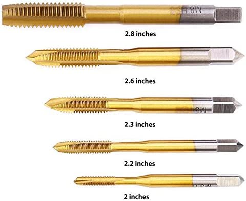 Single M6 Alician Titanize High-Speed Steel Spiral Pointed Tap Exquisite Tapper Hole-Open Tool Tapping Drill M3 M4 M5 M6 M8 0ptional
