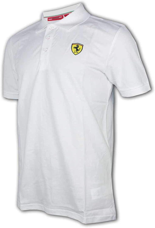 Ferrari Scuderia F1 Classic Polo blanc pour supporter Formule 1