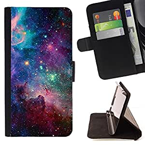 For LG G3 Sky Universe Stars Cosmos Nebula Teal Style PU Leather Case Wallet Flip Stand Flap Closure Cover