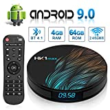 Android 9.0 TV Box HK1 Max's with Dual-WiFi 2.4GHz/5GHz 【4GB RAM 64GB ROM】 RK3328 Quad-core Support 4K Full HD BT 4.1 USB 3.0 H.265 Digital LED Display time Smart TV Box