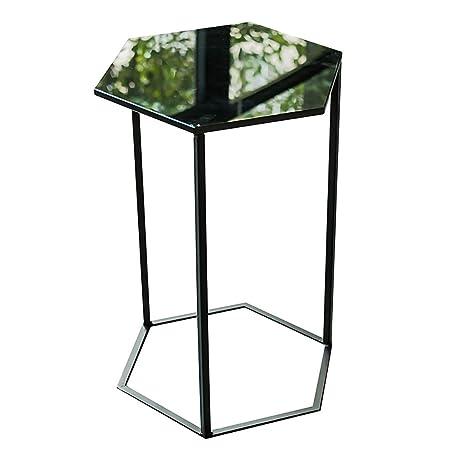 Amazonde Hongsezhuozi Tische Tee Tisch Couchtisch Eisen Glas