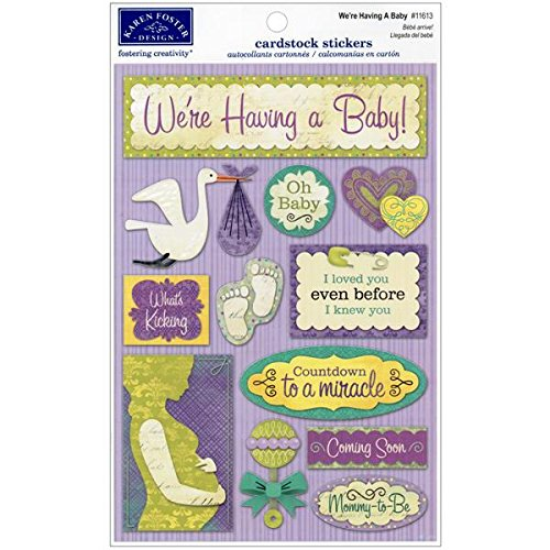 Karen Foster Design Acid and Lignin Free Scrapbooking Sticker Sheet, We're Having a Baby