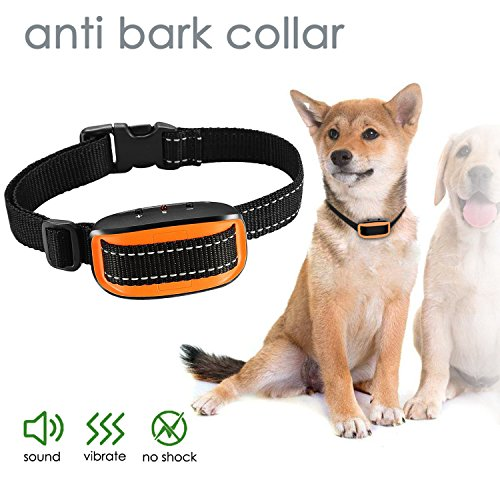 Fullsexy No Bark Collar Dogs – Extremely Effective No Bark Collar No Pain Harm, 7 Different Bark Sensitivity Levels, Bark Collar Small Medium Large Dogs.