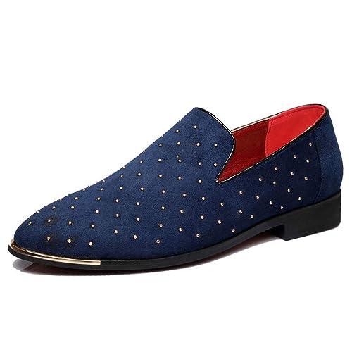 Mocasines De Hombres Remache Boda Vestido Zapatos Moda Zapatos NaúTicos MocasíN: Amazon.es: Zapatos y complementos
