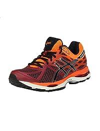 Asics Men's Gel Cumulus 17 Deep Ruby, Onyx and Hot Orange Mesh Running Shoes