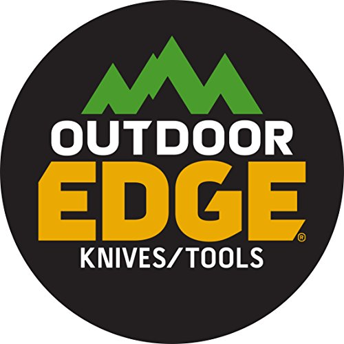 Outdoor Edge RazorPro, RO-10, Replaceable Razor Blade Hunting Knife with Gutting Tool, Black Handle with Nylon Sheath and 6 3.5 Inch Blades by Outdoor Edge (Image #1)