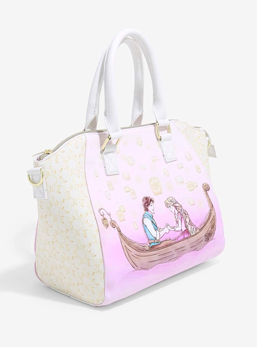 Amazon Com Loungefly Disney Tangled Rapunzel Flynn Rider Satchel Bag Clothing