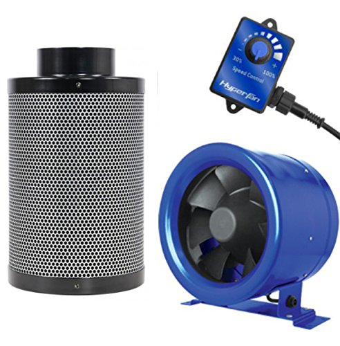 "Hyper Fan 6"" Inch and Black Ops 6"" x 16 "" Carbon Filter Combo Package Kit"