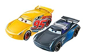 Disney Cars Pixar Cars 3 Flip to the Finish Rust-eze Cruz Ramirez & Jackson Storm Vehicle,2-Pack