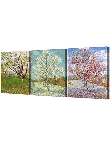 DecorArts Triptych Orchard Blossom Reproduction