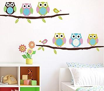 Cartoon Home Decor Eulen Wand Aufkleber Schöne Tiere Tapete für Kinder Wohnzimmer Wand Aufkleber