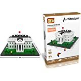 YouCute Loz Micro Blocks,the white house, Small Building Block Set, Nanoblock Compatible (1170 pcs)