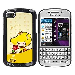 Be Good Phone Accessory // Dura Cáscara cubierta Protectora Caso Carcasa Funda de Protección para BlackBerry Q10 // Cute Princess Rose