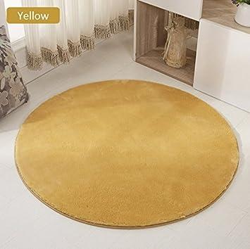 Heelinna Perfekt Reine Farbe Runde Wolle Teppich Bodenmatten