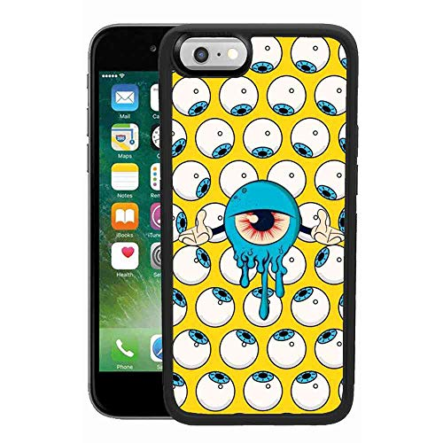 Cyclop Eyes iPhone 6/6S Plus Pattern Black TPU PC Soft Edge Phone Case for iPhone 6/6S Plus