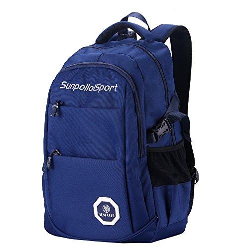 SUNPOLLO School Bag Book For Boys Students Blue