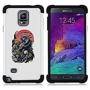 For Samsung Galaxy Note 4 SM-N910 N910 - REAPER GRIM DEATH SCYTHE MAIDEN Dual Layer caso de Shell HUELGA Impacto pata de cabra con im??genes gr??ficas Steam - Funny Shop -