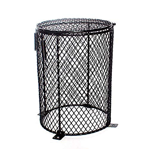 Aoile Anti-Scald Reptile Heater Lamp Guard Heating Light Bulb Guard Protector Heat Lamp Mesh Cover Lampshades Round