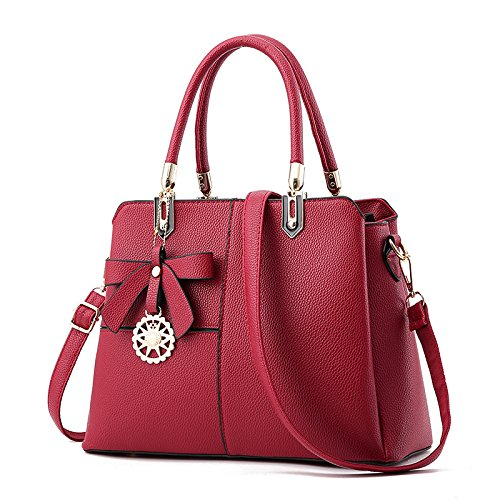 G Bag Black Ladies Leather Shoulder Classic Casual Renhong Red Crossbody Pu G Gray Bag pink onesize 8OwTvvfq