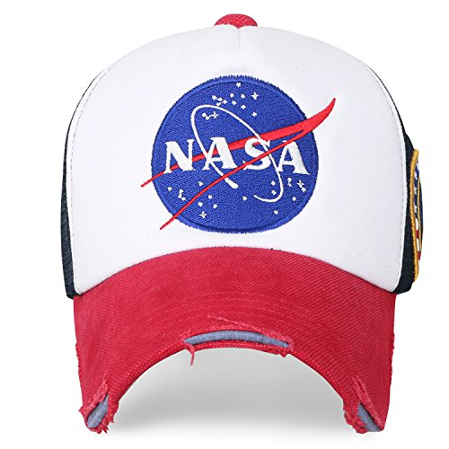 7d0c34ce971 ililily NASA Meatball Logo Embroidery Baseball Cap Apollo 1 Patch Trucker  Hat