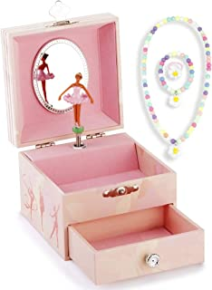 RPJC Kinder Musik - Glocke Schmuckkästchen - Box Speichern mit Schublade und Set für Schmuck mit Wunderbar Meerjungfrau Thema - Wunderschön Träumer Tune Blau