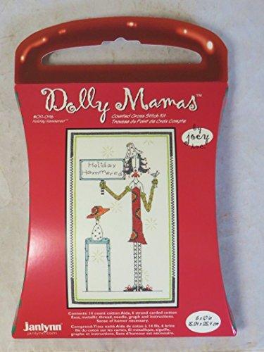 Janlynn Dolly Mama's Holiday Hammered Cntd X-Stitch Kit (Stitch Cntd Cross Kit)