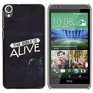 PC/Aluminum Funda Carcasa protectora para HTC Desire 820 BIBLE The Bible Is Alive / JUSTGO PHONE PROTECTOR