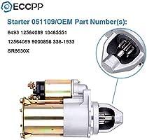 Starters ECCPP fit for Chevrolet Cavalier 2002-2005 Classic 134 Fleet // Malibu 2004-2005 Cobalt 2005 Oldsmobile Alero 2002-2004 Pontiac Grand AM 2002-2005 Saturn Ion 2003-2006 2.2L L4 649